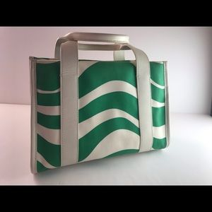 Green and White Kate Spade Tote